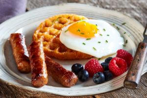 Image of Sunny-Side Up Chaffle & Sausage