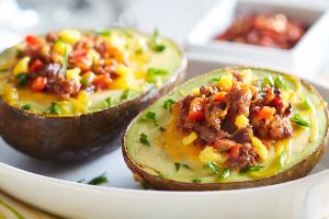 Image of Baked Avocado with Sausage & Eggs