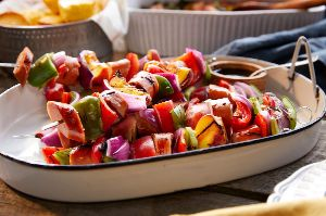 Image of Peachy Sausage Kabobs
