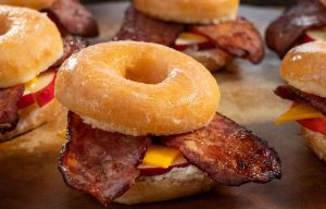 Image of Spicy Sausage and Apple Donut Sliders