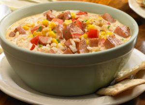Image of Andouille Sausage and Brown Rice Chowder
