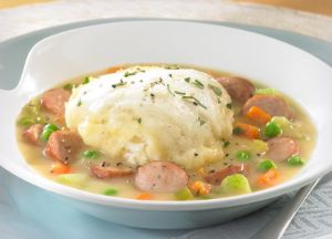Image of Apple Chicken Sausage and Dumplings