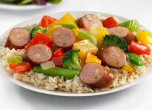 Image of Johnsonville Apple Chicken Sausage Sweet and Sour Stir Fry