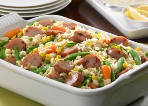 Image of Apple Sausage & Rice Casserole