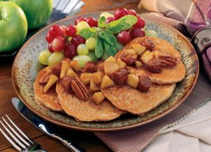 Image of Apple Sausage Pancakes