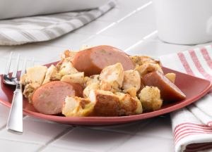 Image of Baked French Toast with Johnsonville Apple Chicken Sausage