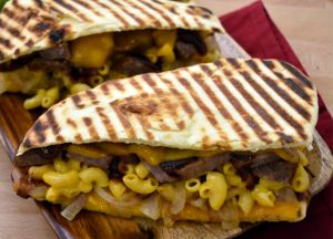 Image of Johnsonville Brat, BBQ and Mac & Cheese Panini