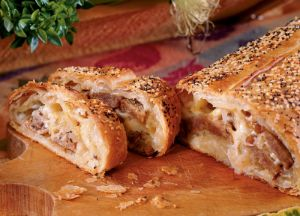 Image of Brat and Kraut Strudel