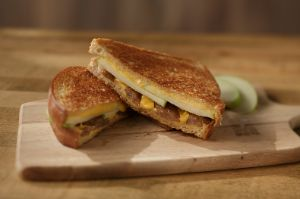 Image of Breakfast Sausage Grilled Cheese Sandwich