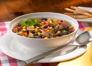 Image of Cajun Style Sausage Soup -- Sizzling Sausage Grill Recipe