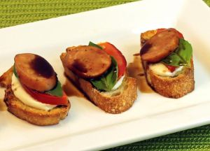 Image of Caprese Sausage Bruschetta with Johnsonville Three Cheese Italian Style Chicken Sausage