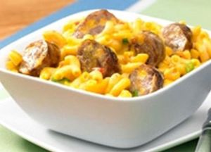 Cheddar Brat Mac & Cheese -- Sizzling Sausage Grill Recipe