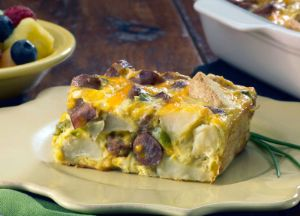 Cheesy Sausage & Potato Breakfast Casserole