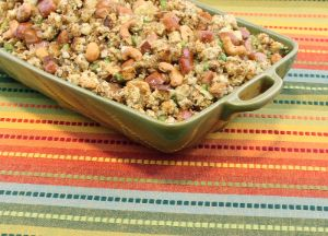 Image of Chicken Sausage Stuffing with Honey Roasted Cashews