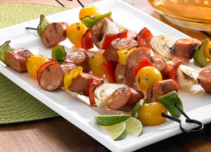 Image of Johnsonville Chipotle Monterey Jack Cheese Chicken Sausage and Lime Kabobs