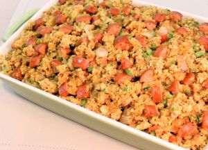 Cornbread Stuffing with Caramelized Onions and Sausage