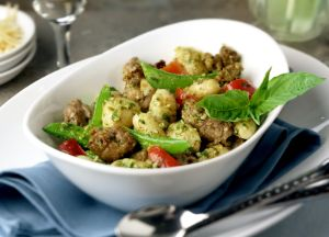 Image of Creamy Pesto Gnocchi with Italian Sausage
