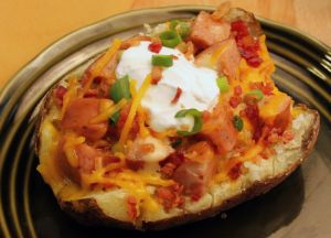 Image of Easy Sausage-Stuffed Baked Potatoes