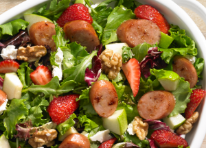 Image of Johnsonville Strawberry and Apple Chicken Sausage Salad