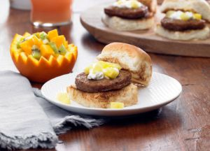 Hawaiian Style Breakfast Sausage Sliders
