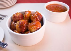 Johnsonville® Peach & Chili Sauce with Meatballs