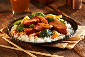 Korean BBQ Sausage Stir-Fry