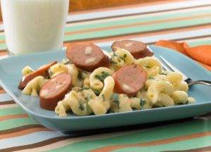 Image of Mac and Cheese with Johnsonville Three Cheese Italian Style Chicken Sausage