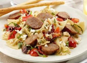 Image of Mediterranean Pasta with Johnsonville Italian Sausage