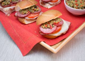 Image of Mini Muffaletta Summer Sausage Sammies