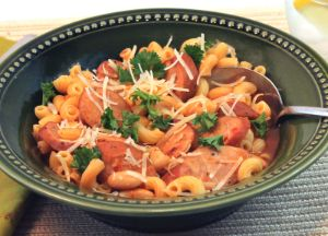 Pasta Fagioli with Johnsonville Three Cheese Italian Style Chicken Sausage