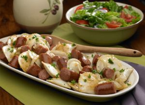 Image of Polish Kielbasa and Pierogies