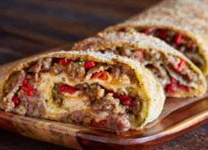 Image of Roasted Garlic and Chile Sausage Stromboli