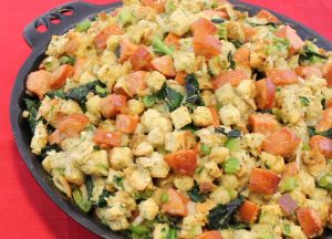 Image of Rustic Bread, Sausage and Southern Greens Stuffing