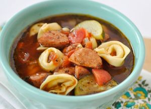 Image of Sausage and Tortellini Soup