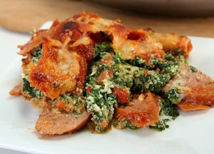 Image of Low Carb Sausage & Spinach Lasagna Casserole