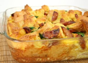 Image of Smoked Sausage Bread Pudding Casserole