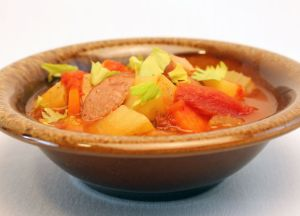 Image of Savory Sausage Vegetable Soup