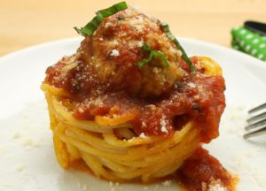 Image of Spaghetti & Meatball Nests