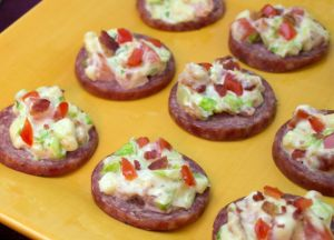 Image of Summer Sausage with BLT Topping