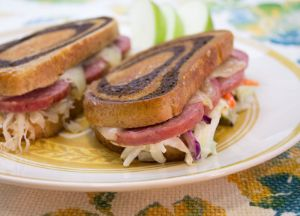 Image of Summer Sausage Reuben Sandwiches