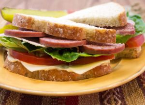 Image of Summer Sausage and Smoked Turkey Club Sandwiches