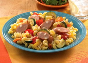 Johnsonville Smoked Chicken Italian Sausage Oven-Roasted Pasta Primavera
