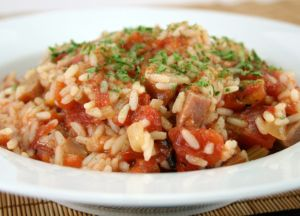 Tomato and Rice with Kielbasa