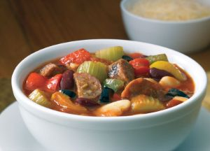 Image of Touchdown Italian Sausage Chili  -- Sizzling Sausage Grill Recipe