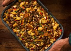 Image of Whiskey Sausage Apple Stuffing