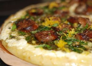 Zesty Lemon Sausage Pizza