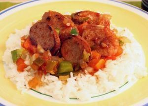 Image of Zesty Sausage and Rice Skillet Dinner