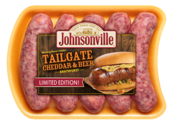 Tailgate Cheddar and Beer Brats