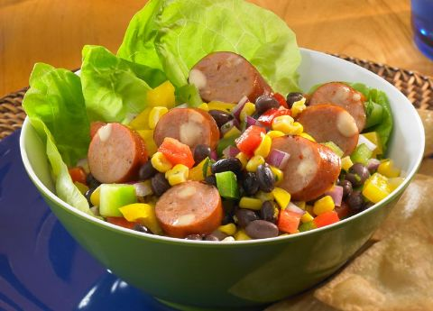 Image of Black Bean Salad with Johnsonville Chipotle Monterey Jack Chicken Sausage