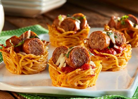 Image of Spaghetti & Sausage Nests